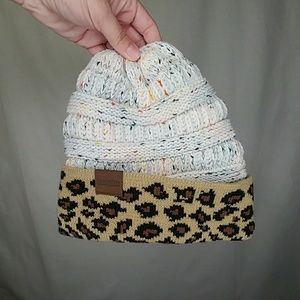 Heimish Animal Print Knitted Winter Beanie Hat